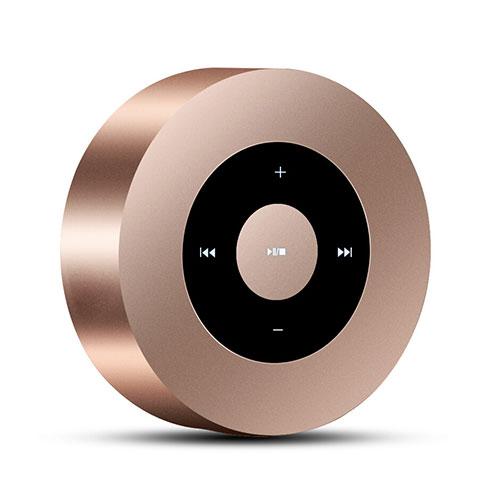 Bluetoothミニスピーカー ポータブルで高音質 ポータブルスピーカー S07 ゴールド