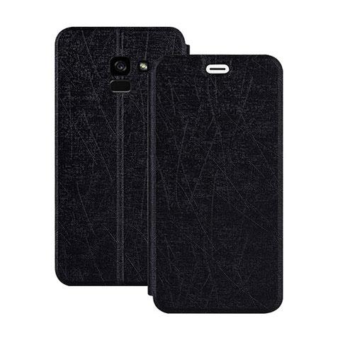 Samsung Galaxy A5 (2018) A530F用手帳型 レザーケース スタンド サムスン ブラック