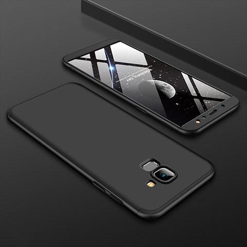 Samsung Galaxy A6 (2018)用ハードケース プラスチック 質感もマット 前面と背面 360度 フルカバー サムスン ブラック