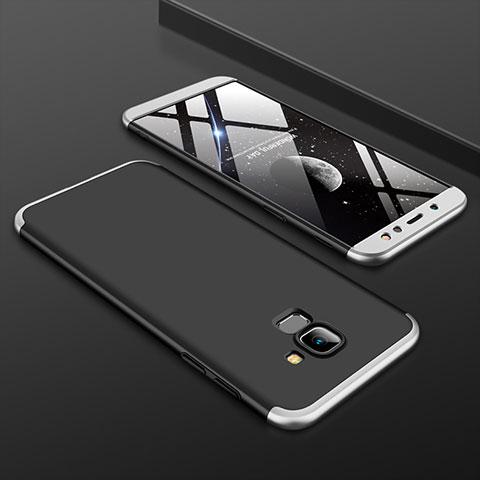 Samsung Galaxy A6 (2018) Dual SIM用ハードケース プラスチック 質感もマット 前面と背面 360度 フルカバー サムスン シルバー