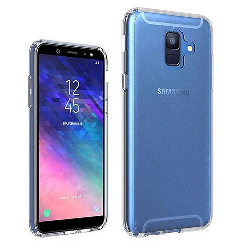 Samsung Galaxy A6 (2018) Dual SIM用極薄ソフトケース シリコンケース 耐衝撃 全面保護 クリア透明 カバー サムスン クリア