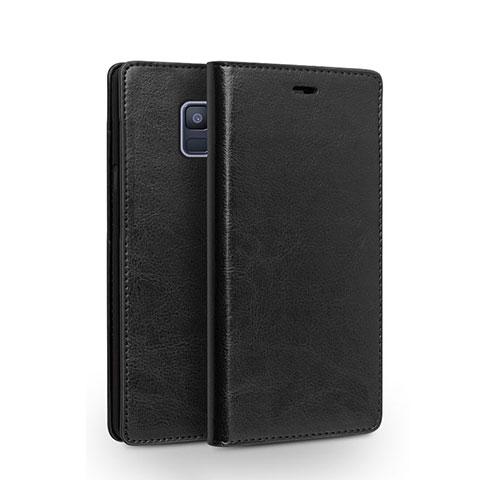Samsung Galaxy A6 (2018) Dual SIM用手帳型 レザーケース スタンド L01 サムスン ブラック