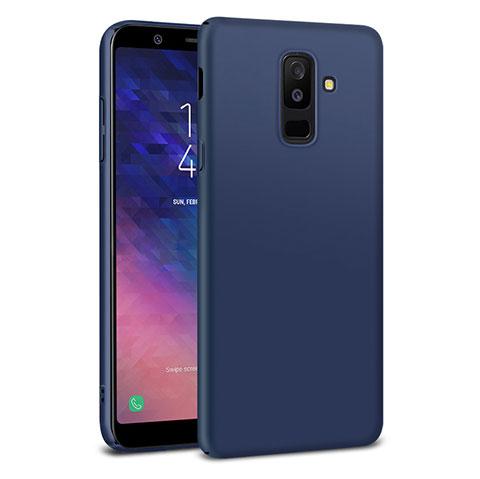 Samsung Galaxy A6 Plus用ハードケース プラスチック 質感もマット M02 サムスン ネイビー