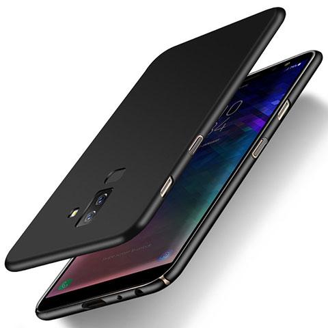 Samsung Galaxy A6 Plus用ハードケース プラスチック 質感もマット M04 サムスン ブラック