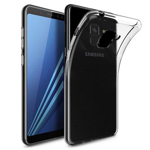 Samsung Galaxy A8 (2018) Duos A530F用極薄ソフトケース シリコンケース 耐衝撃 全面保護 クリア透明 T02 サムスン クリア