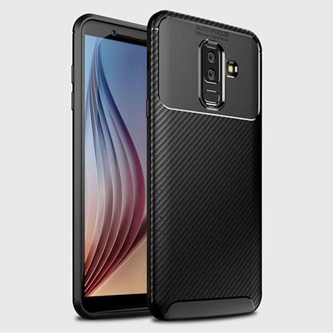 Samsung Galaxy A9 Star Lite用シリコンケース ソフトタッチラバー ツイル カバー サムスン ブラック