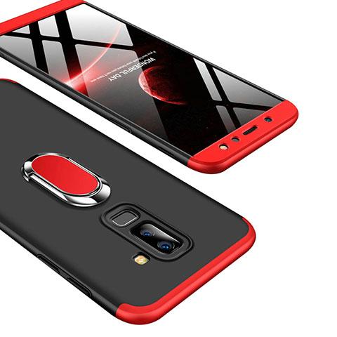 Samsung Galaxy A9 Star Lite用ハードケース プラスチック 質感もマット 前面と背面 360度 フルカバー アンド指輪 Q01 サムスン レッド・ブラック
