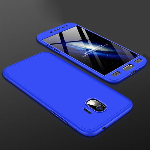 Samsung Galaxy J2 Pro (2018) J250F用ハードケース プラスチック 質感もマット 前面と背面 360度 フルカバー サムスン ネイビー