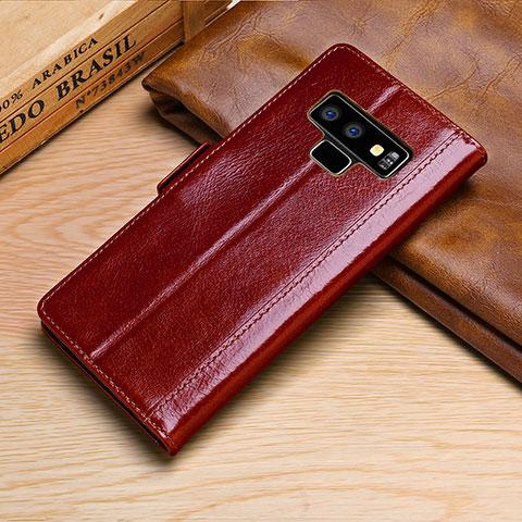 Samsung Galaxy Note 9用手帳型 レザーケース スタンド カバー P01 サムスン レッド