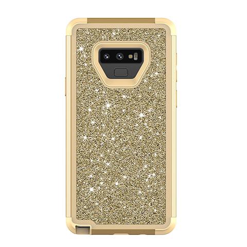 Samsung Galaxy Note 9用ハイブリットバンパーケース ブリンブリン カバー 前面と背面 360度 フル サムスン マルチカラー