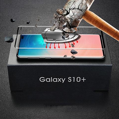 Samsung Galaxy S10 Plus用強化ガラス フル液晶保護フィルム サムスン ブラック