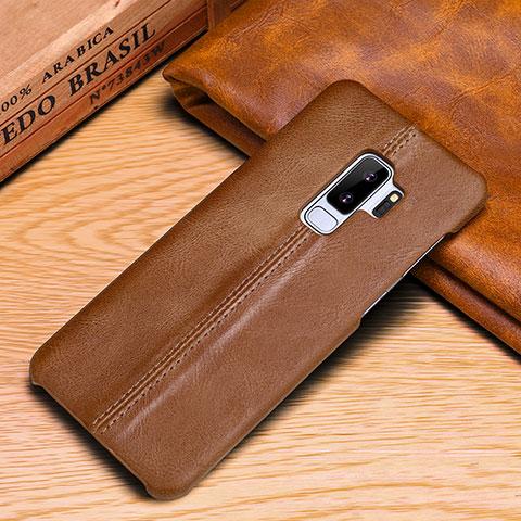 Samsung Galaxy S9 Plus用手帳型 レザーケース スタンド カバー P03 サムスン オレンジ