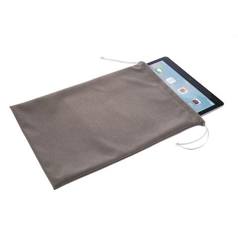 Samsung Galaxy Tab S2 9.7 SM-T810 SM-T815用高品質ソフトベルベットポーチバッグ ケース サムスン グレー