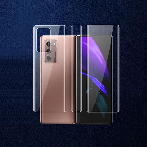 Samsung Galaxy Z Fold2 5G用背面保護フィルム 背面フィルム B01 サムスン クリア