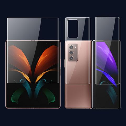 Samsung Galaxy Z Fold2 5G用高光沢 液晶保護フィルム 背面保護フィルム同梱 F01 サムスン クリア
