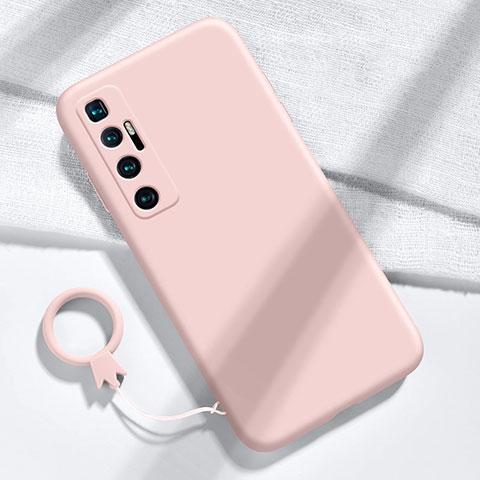 Xiaomi Mi 10 Ultra用360度 フルカバー極薄ソフトケース シリコンケース 耐衝撃 全面保護 バンパー Xiaomi ピンク
