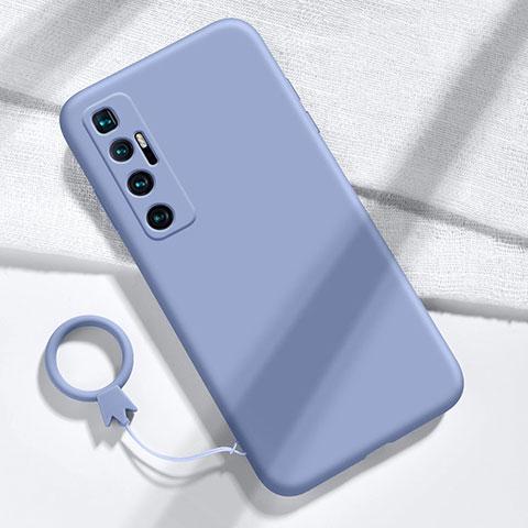 Xiaomi Mi 10 Ultra用360度 フルカバー極薄ソフトケース シリコンケース 耐衝撃 全面保護 バンパー Xiaomi ラベンダーグレー