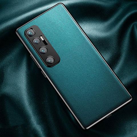 Xiaomi Mi 10 Ultra用ケース 高級感 手触り良いレザー柄 Xiaomi シアン