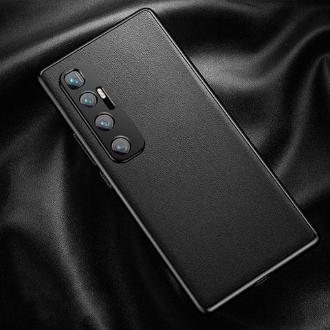 Xiaomi Mi 10 Ultra用ケース 高級感 手触り良いレザー柄 Xiaomi ブラック