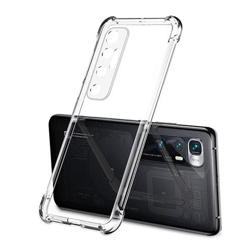 Xiaomi Mi 10 Ultra用極薄ソフトケース シリコンケース 耐衝撃 全面保護 クリア透明 H01 Xiaomi クリア