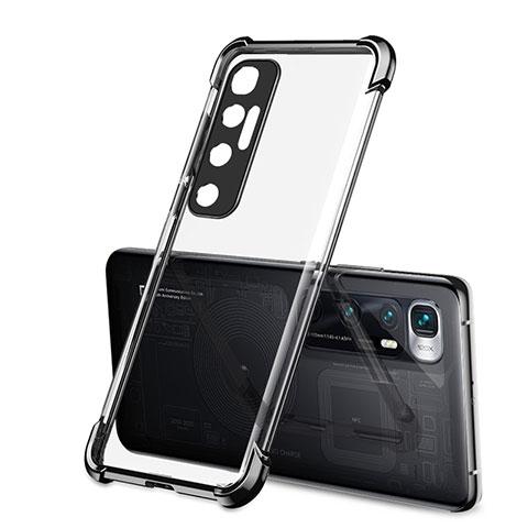 Xiaomi Mi 10 Ultra用極薄ソフトケース シリコンケース 耐衝撃 全面保護 クリア透明 H01 Xiaomi ブラック