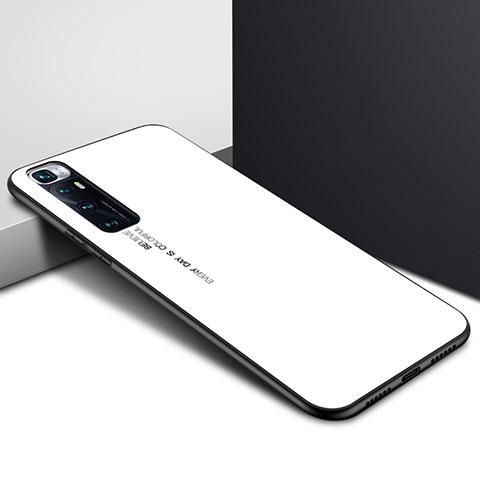 Xiaomi Mi 10 Ultra用ハイブリットバンパーケース プラスチック 鏡面 カバー Xiaomi ホワイト
