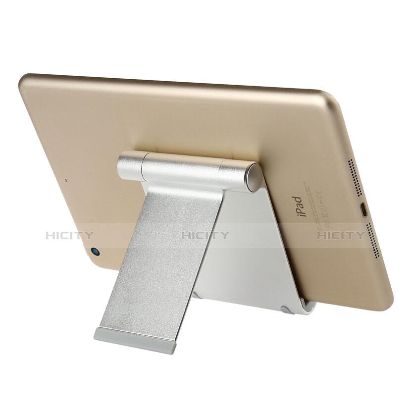 Apple iPad 2用スタンドタイプのタブレット ホルダー ユニバーサル T27 アップル シルバー