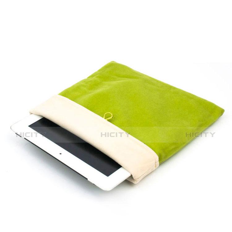 Apple iPad 2用ソフトベルベットポーチバッグ ケース アップル グリーン