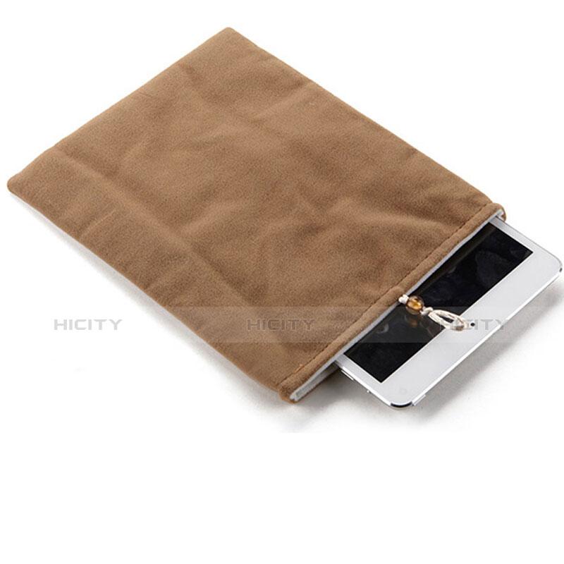 Apple iPad 4用ソフトベルベットポーチバッグ ケース アップル ブラウン