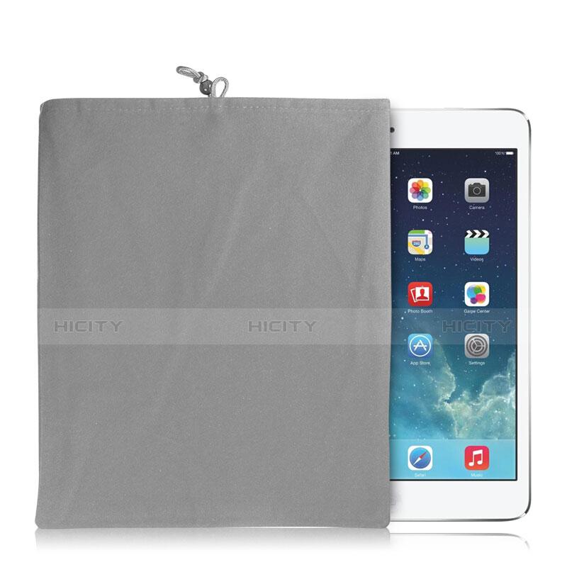 Apple iPad 4用ソフトベルベットポーチバッグ ケース アップル グレー