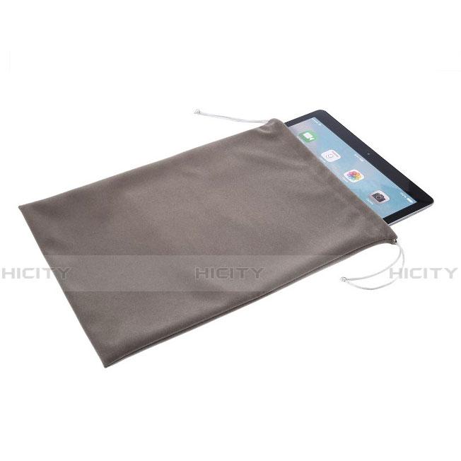 Apple iPad 4用高品質ソフトベルベットポーチバッグ ケース アップル グレー