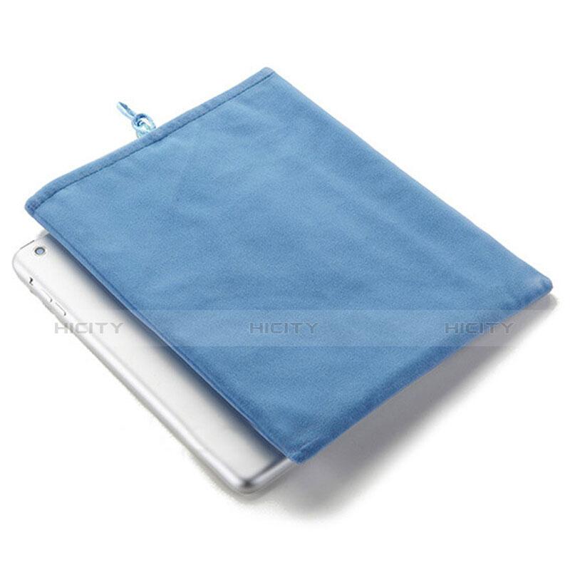 Apple iPad Air 2用ソフトベルベットポーチバッグ ケース アップル ブルー