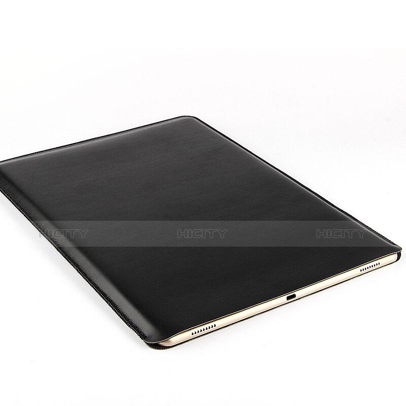 Apple iPad Air 2用高品質ソフトレザーポーチバッグ ケース イヤホンを指したまま アップル ブラック