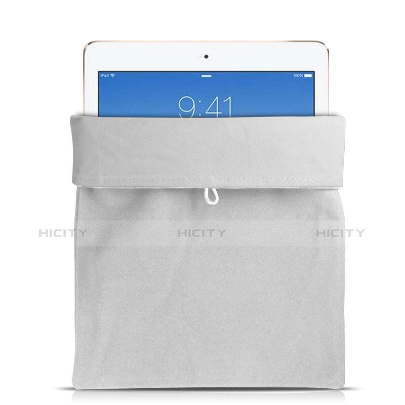 Apple iPad Air用ソフトベルベットポーチバッグ ケース アップル ホワイト