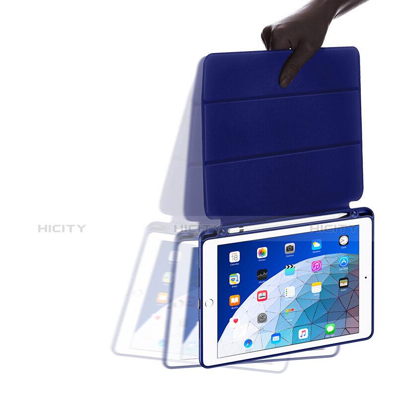 Apple iPad New Air (2019) 10.5用手帳型 レザーケース スタンド アップル ネイビー