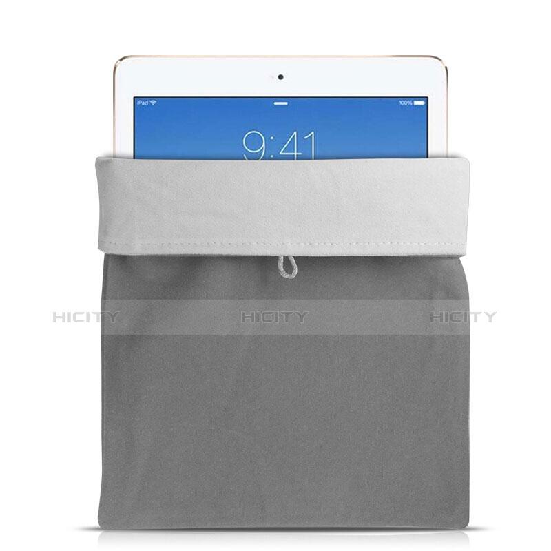 Apple iPad Pro 10.5用ソフトベルベットポーチバッグ ケース アップル グレー