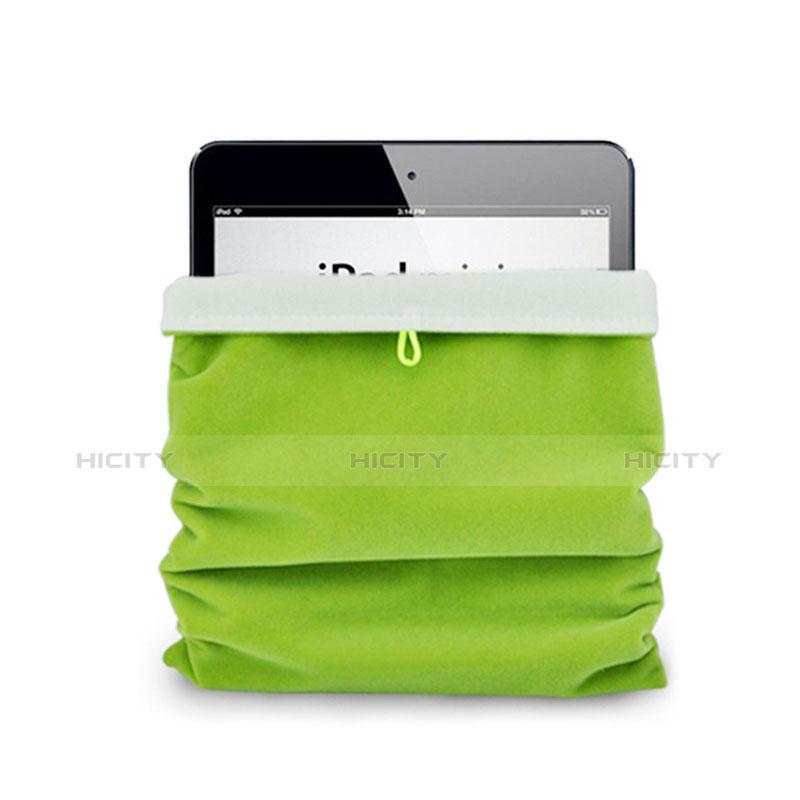 Apple iPad Pro 12.9 (2017)用ソフトベルベットポーチバッグ ケース アップル グリーン