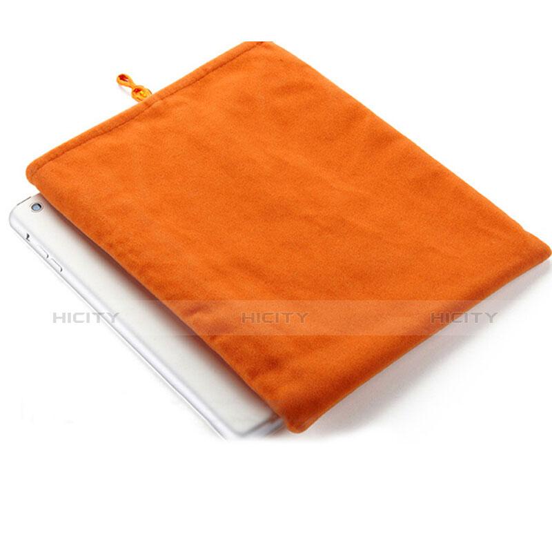 Apple iPad Pro 12.9 (2017)用ソフトベルベットポーチバッグ ケース アップル オレンジ