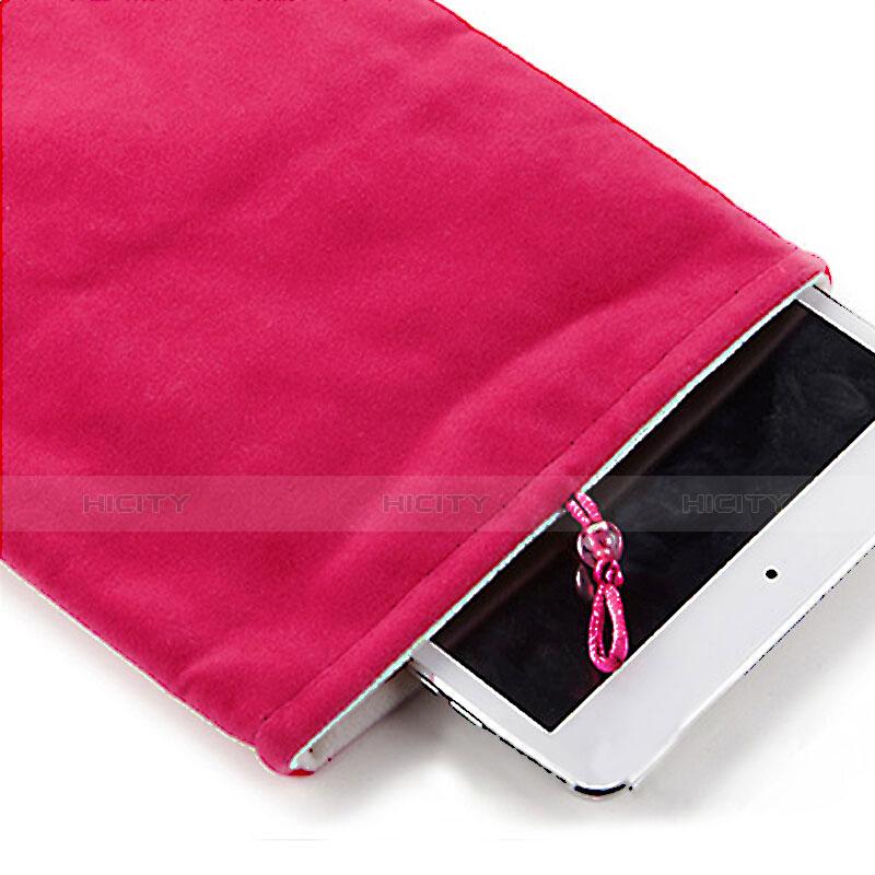 Apple iPad Pro 12.9 (2017)用ソフトベルベットポーチバッグ ケース アップル ローズレッド