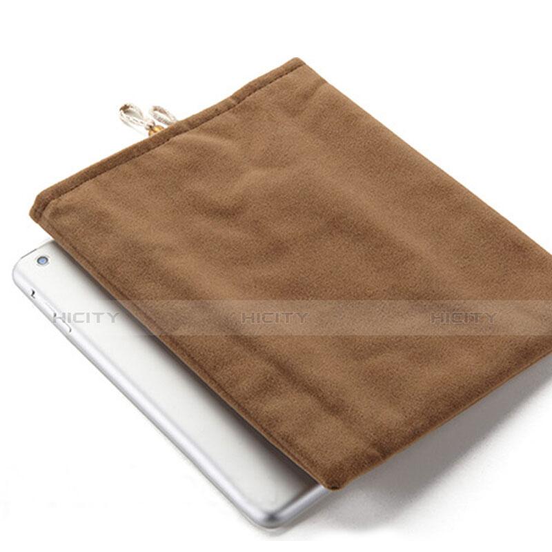 Apple iPad Pro 12.9 (2017)用ソフトベルベットポーチバッグ ケース アップル ブラウン