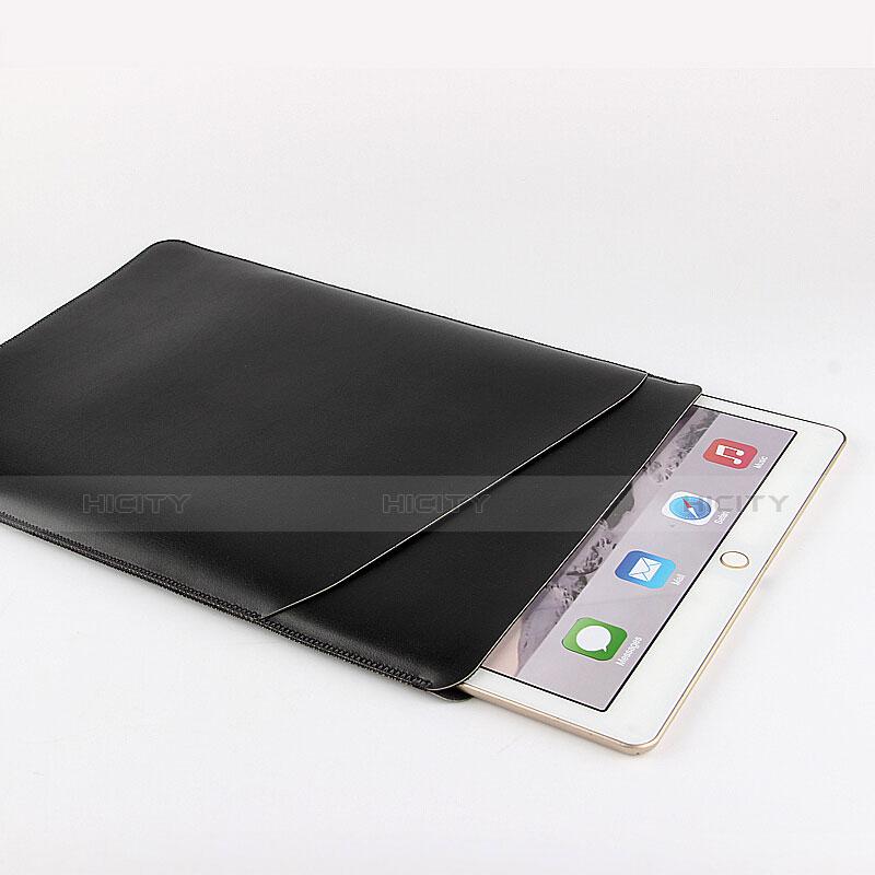 Apple iPad Pro 12.9 (2017)用高品質ソフトレザーポーチバッグ ケース イヤホンを指したまま アップル ブラック