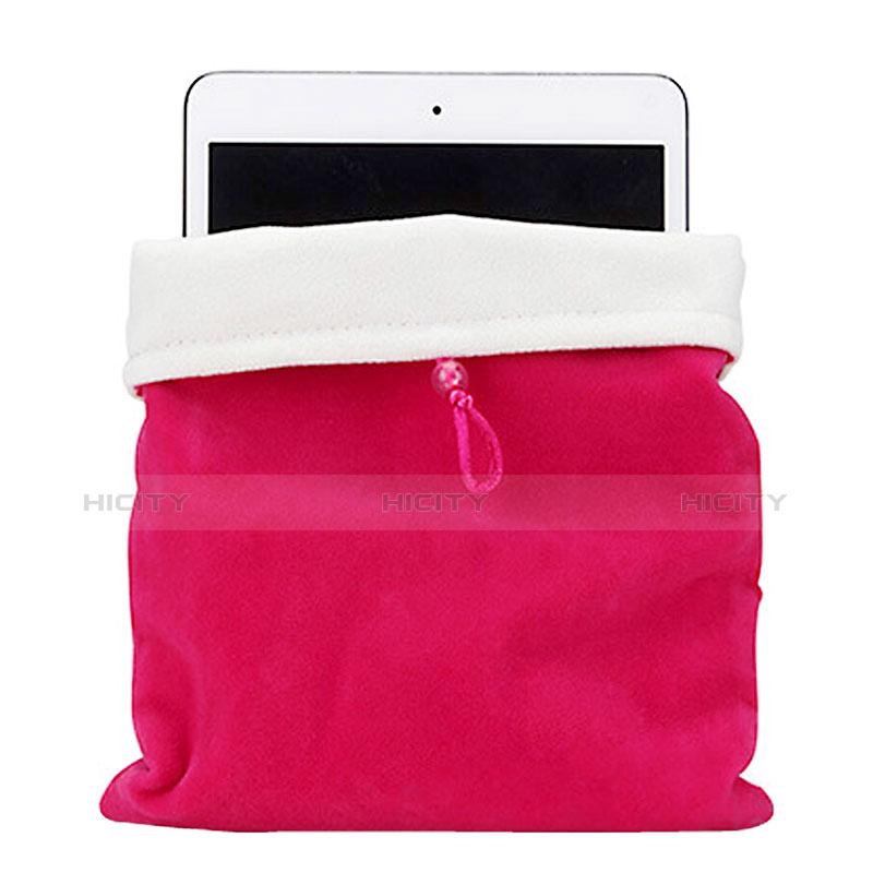 Apple iPad Pro 12.9用ソフトベルベットポーチバッグ ケース アップル ローズレッド