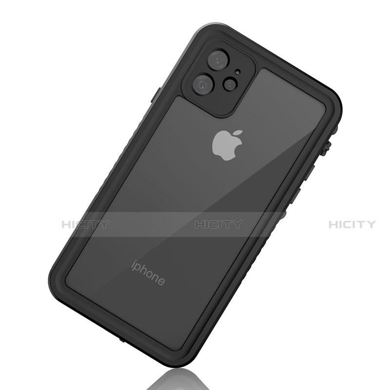 Apple iPhone 11用完全防水ケース ハイブリットバンパーカバー 高級感 手触り良い 360度 W01 アップル ブラック