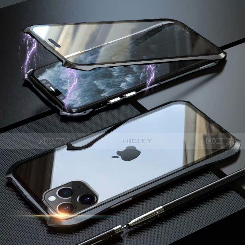 Apple iPhone 11 Pro Max用ケース 高級感 手触り良い アルミメタル 製の金属製 360度 フルカバーバンパー 鏡面 カバー M10 アップル