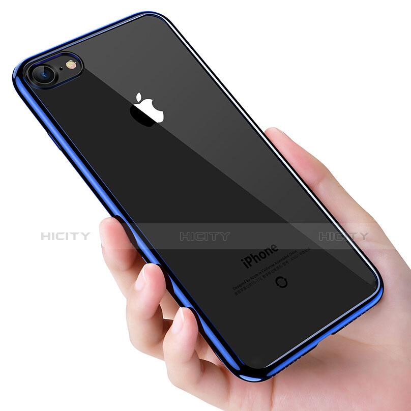 Apple iPhone 6S用極薄ソフトケース シリコンケース 耐衝撃 全面保護 クリア透明 T16 アップル ネイビー