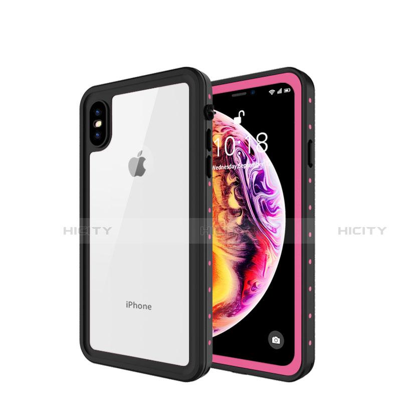 Apple iPhone X用完全防水ケース ハイブリットバンパーカバー 高級感 手触り良い 360度 W01 アップル ローズゴールド