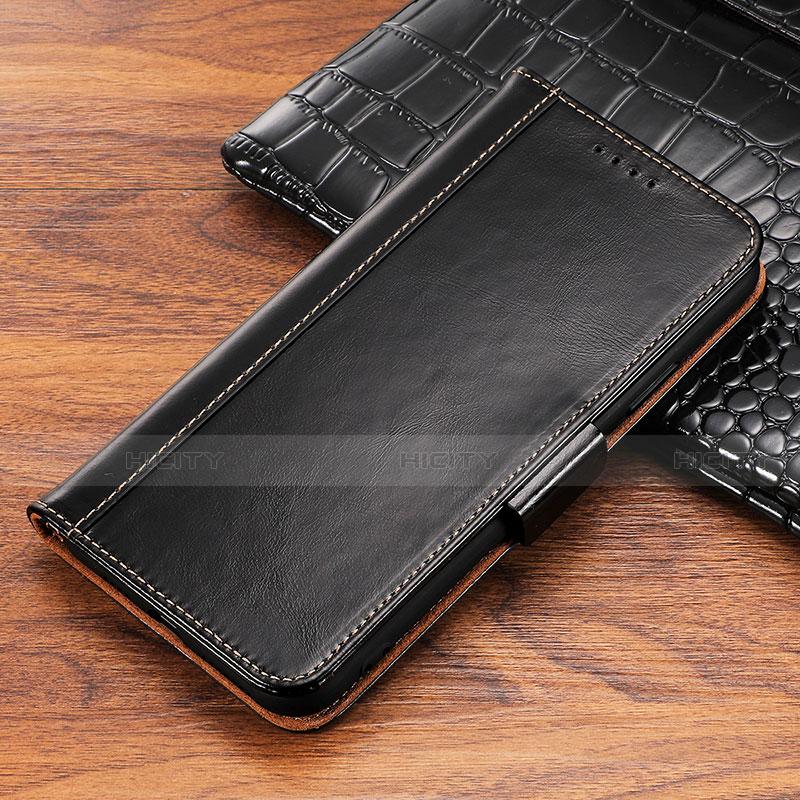Apple iPhone X用手帳型 レザーケース スタンド カバー P04 アップル ブラック