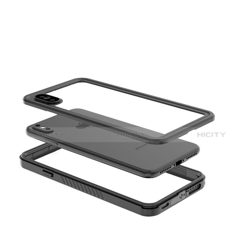 Apple iPhone X用完全防水ケース ハイブリットバンパーカバー 高級感 手触り良い 360度 アップル ブラック