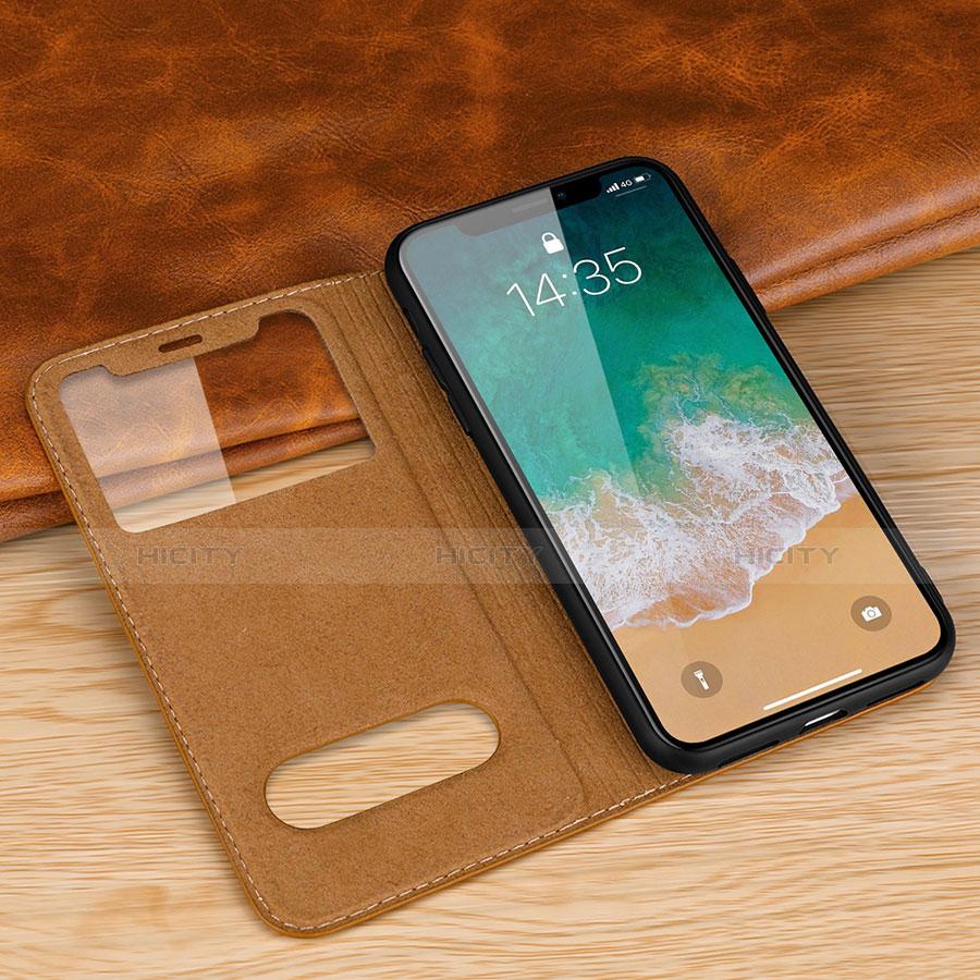 Apple iPhone X用手帳型 レザーケース スタンド カバー P02 アップル