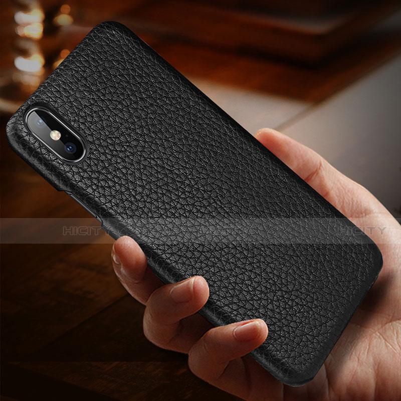 Apple iPhone X用ケース 高級感 手触り良いレザー柄 S10 アップル